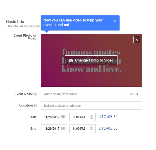 how to make an event on facebook page