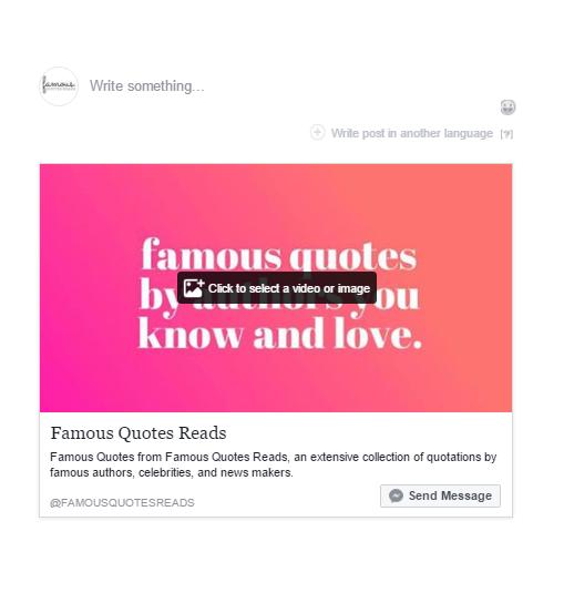 facebook post type get message