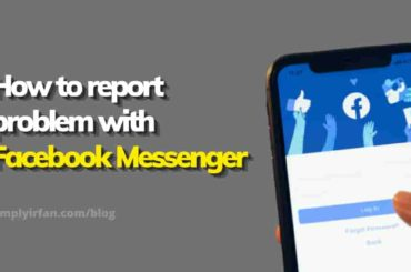 how to report a problem with the Facebook messenger