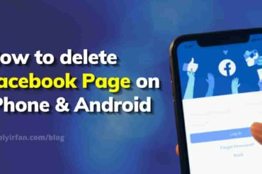 how to delete Facebook page on iPhone and android