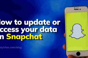 how to update or access your data on snapchat